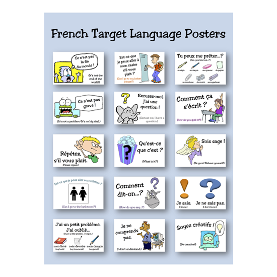 French Target Language Posters